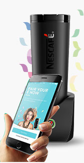 nescafe e pairing via connected mug app